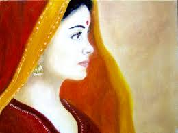 painting indian lady paintings