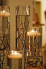 candle centerpiece simple branch and floating candle centerpieces budget brides