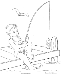cute kid summer coloring page 011
