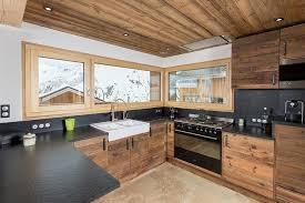 cuisine chalet montagne cuisines agencement d une cuisine chalet privé de montagne
