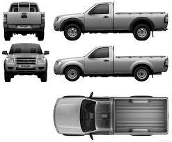Ford Ranger Truck Cab - the blueprints com blueprints u003e cars u003e ford u003e ford ranger