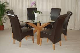 solid oak dining table and 6 chairs round 6 seater dining table brilliant ideas glass details about trio
