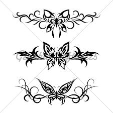 celtic swirl set tribal with butterflies gl