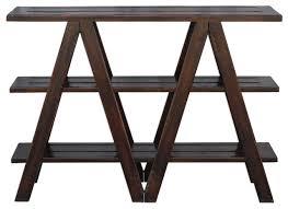 Mahogany Console Table Uttermost 25733 Tafari Rustic Worn Black Mahogany Console Table