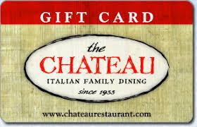 restaurant egift cards the chateau restaurant egift card