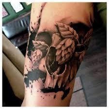 skull tattoo by jacob pedersen