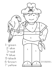 100 pirate parrot coloring pages cartoon of an outlined pirate