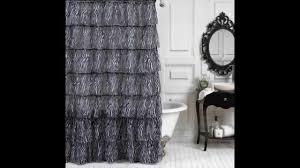 bathroom tan four ruffle shower curtain for bathroom decoration ideas