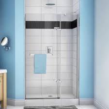 38 Shower Door Maax Reveal Pivot 38 41 2 Panel Shower Door At Menards