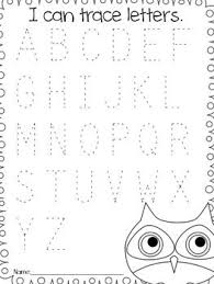 tracing letters and other worksheets for pre k and kindergarten