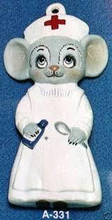 alberta s vintage mouse in santa hat ceramic mold