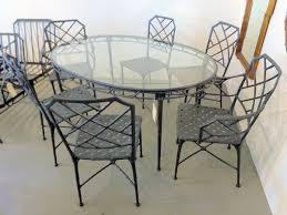 Vintage Brown Jordan Outdoor Furniture by Brown Jordan Faux Bamboo Dining Table U0026 6 Chairs Circa Who