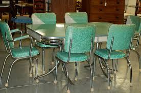 Retro Chrome Kitchen Table And Chairs  Retro Kitchen Table Hot - Chrome kitchen table