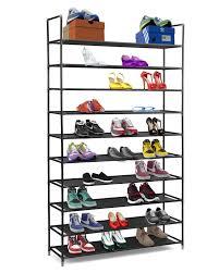 amazon com halter 10 tier stainless steel shoe rack shoe