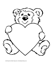 Coloring Pages Hearts Valentine S Day Hearts Coloring Pages Teddy Bear With A Big by Coloring Pages Hearts