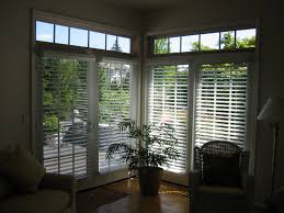 Wood Patio Doors With Built In Blinds by White Accordion Shades Sliding Glass Door As Windows Treatment