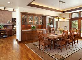 mission style living room tables rustic buffet and hutch dining room craftsman with custom cabinetry