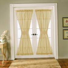 Double Panel Curtains Decorating French Door Curtains For Cute Interior Home Decorating