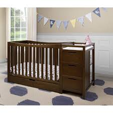 Convertible Crib With Storage by Mini Crib With Changing Table Combo Best Table Decoration