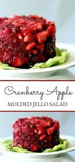 jello cranberry apple salad mold grateful prayer thankful