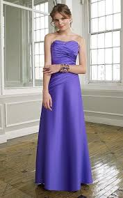 mori lee strapless satin bridesmaid dress with lace up back 292