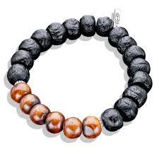 men jewelry bracelet images Horn tibetan meditation bead with silver caps wood bead bracelet jpg