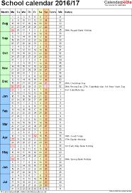 calendars 2016 2017 as free printable word templates