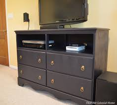 Bedroom Dresser Tv Stand Tv Stand This Colonial Home Throughout Tv Dresser Stand Tv