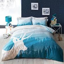 Forest Bedding Sets Deer Blue Forest Bedding Set 4pcs Bed Sets Duvet And Products