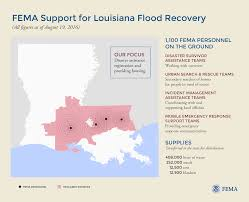 Louisiana Map Of Parishes by Graphic Fema Support For Louisiana Flood Recovery 8 19 16