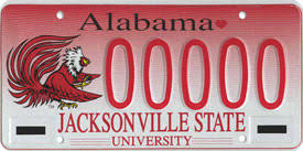 of alabama alumni car tag alumni services alumni relations jacksonville state