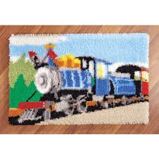 Latch Hook Rugs Mary Maxim Choo Choo Train Latch Hook Rug