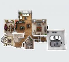 Virtual 3d Home Design Software Download 3d Virtual Floor Plan Visualization2 Storey House Design Simple