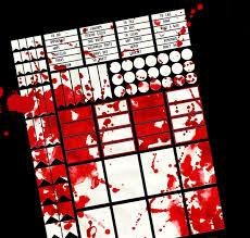 horror planner gothic stickers blood drippy splatter halloween