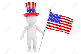Independence Flag Independence Day Concept 3d Small Person With American Flag