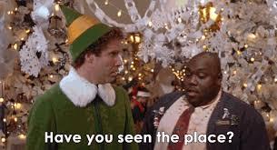 Elf Movie Meme - zooey deschanel elf gif find share on giphy