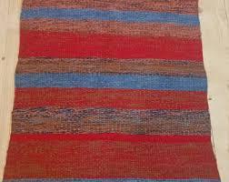 Handmade Rag Rugs For Sale Rag Rug Runner Etsy
