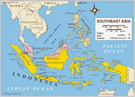 Asia Map Outline by Map Asia Tenggara