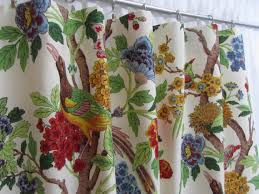 Multi Colored Curtains Bright Floral Curtains Bird Window Drapes Multi Colored Floral