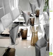 modern dining table setting royalty free stock photography image