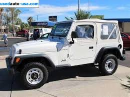 97 jeep wrangler se for sale 1997 passenger car jeep wrangler se tucson insurance