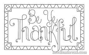 be ye thankful free embroidery pattern needlenthread