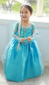 elsa costume frozen snow princess elsa costume dress plait crown wand