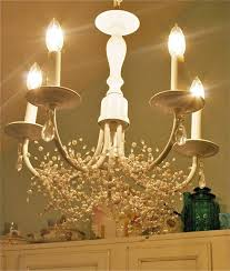Shabby Chic Chandeliers by Diy Cottage Chandelier Before And After Shabby Chic