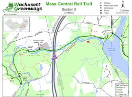 Boston Harborwalk Map by Rail Trails In Massachusetts Masstrails Com