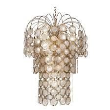 Abalone Shell Chandelier Brass And Abalone Shell Chandelier At 1stdibs