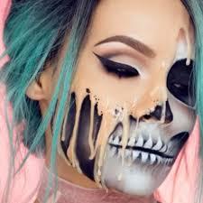 Giraffe Halloween Makeup Melting Skull Desi Perkins Halloween Makeup Tutorials Popsugar