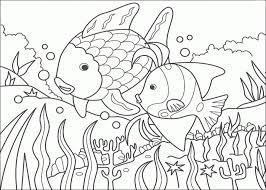 rainbow fish coloring funycoloring
