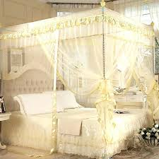 Lace Bed Canopy Lace Bed Canopy Retro Mosquito Net With Bracket Netting Yellow