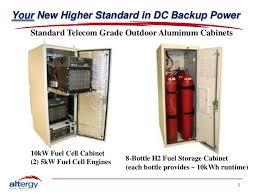 Fuel Storage Cabinet Altergy Telecom Sales Short Linkedin Ppt